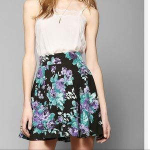 Pins and Needles Floral Skater Skirt-S